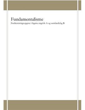 SRO om fundamentalisme og My Son the Fanatic | Engelsk A og Samf B