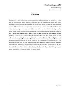 SRP: Omsorgssvigt og Mishandling i Psykologi og Engelsk