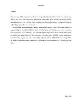 SRO om omsorgssvigt og negativ social arv i samfundsfag A og psykologi B