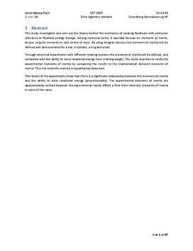 SRP om Inertimomenter i Matematik A og Fysik A