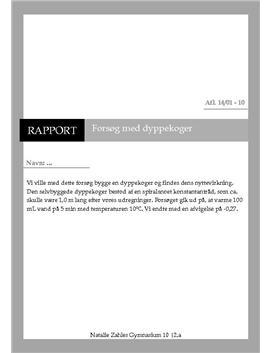 Dyppekoger - Rapport i fysik