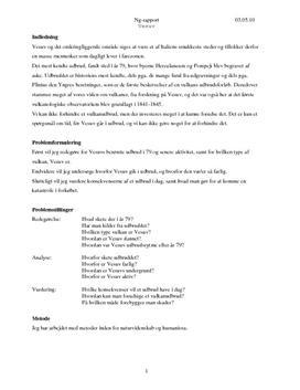 Vesuv - Rapport om Vulkantype og Udbrud