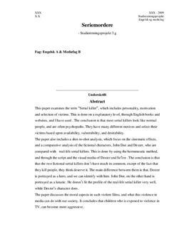 SRP: Seriemordere, Dexter & Se7en (Seven) | Eng & Mediefag