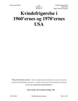SRP: Kvindefrigørelse i 1960'ernes og 1970'ernes USA i Eng og His