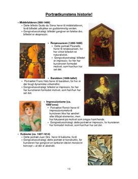Noter: Portrætkunstens historie