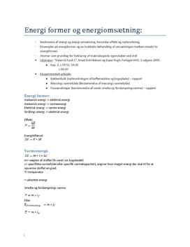 Fysik B Noter
