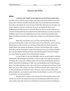 Jenseits der Stille von Caroline Link | Filmanalyse