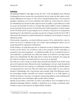 SRP om Det Arabiske Kalifat i Historie A og Matematik A
