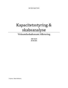 Kapacitetsstyring & Regnskabsanalyse