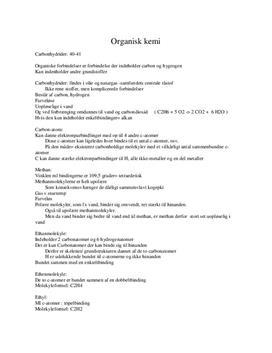 Noter til organisk kemi (Fra Isis kemibogen)