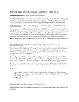 Kritiosdrengen, Zeus fra Artemision, Diskoskasteren, & Spydbæreren