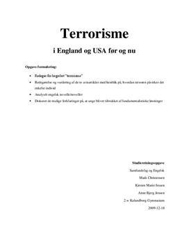 """SRO om terrorisme og """"My Son the Fanatic"""" i samfundsfag A og engelsk A"""