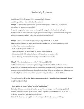 Multikulturalisme synopsis samfundsfag HF