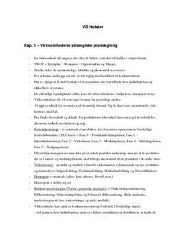 Notater til eksamen VØ B