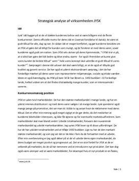 Strategisk analyse af virksomheden JYSK