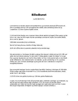 Noter: Arkitekturanalyse af Lund Domkirke   Billedkunst C