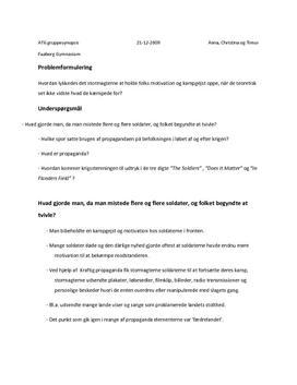 synopsis af digt