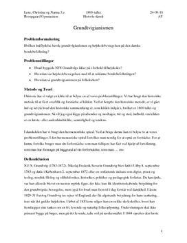 AT synopsis om grundtvigianismen