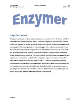 SRO om enzymer i Matematik A og Biologi B