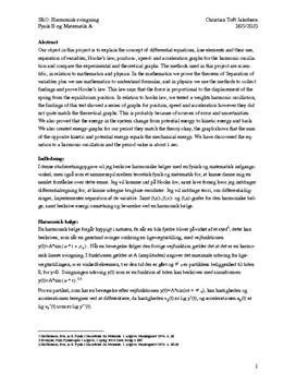 SRO om harmoniske bølger og differentialligninger | Matematik A og Fysik B
