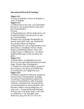 Kurlund International Økonomi B Opgave Kap 12.1-12.5
