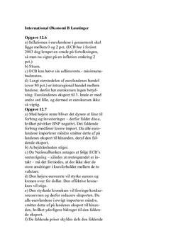 Kurlund International Økonomi B Opgave Kap 12.6-12.10