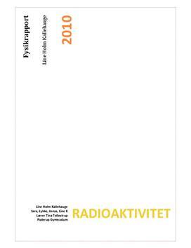 Halveringstid for Ba-137 og Pa-234 - Rapport om Henfald