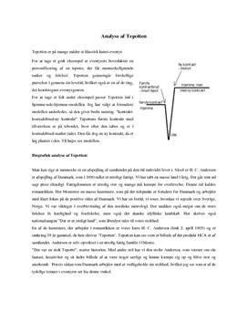 """Analyse af """"Tepotten"""" af H.C. Andersen"""