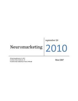 Mini-SRP om Neuromarketing i Afsætning A