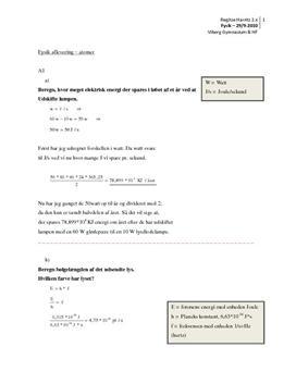 Bølgelængde og Lys - Opgaver i Fysik