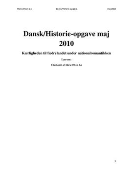 DHO om Nationalromantikken - Udsigt fra Dosseringen ved Sortedamssøen mod Nørrebro