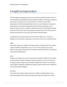 Bevægelsesanalyse af længdespring