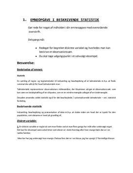 Eksamensnoter til Matematik B HHX