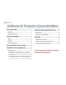 essay om journalistikkens grænser