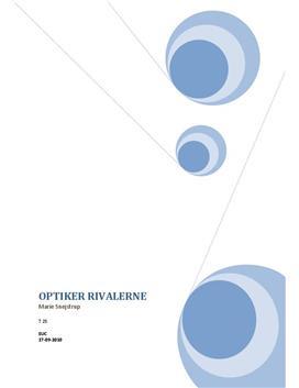 Optikerbranchen   Brancheanalyse