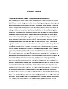 Hansens Flødeis | Analyse