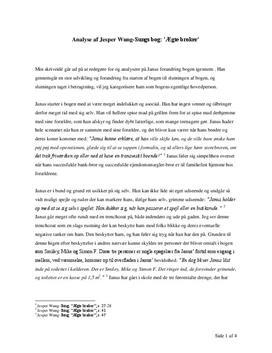 Analyse af 'Ægte brøker' af Jesper Wung-Sung