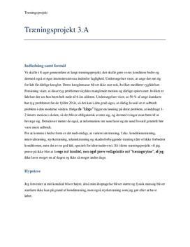 Rapport: 8-ugers træningsprojekt