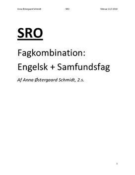 SRO om kulturkonflikt og I could scream with happiness | Eng B og samf A
