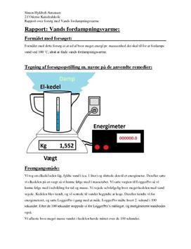 Rapport i Fysik om Vands Specifikke Fordampningsvarme
