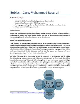 Bobles - Case | Afsætning A