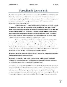 Fortællende Journalistik - Studienet.dk