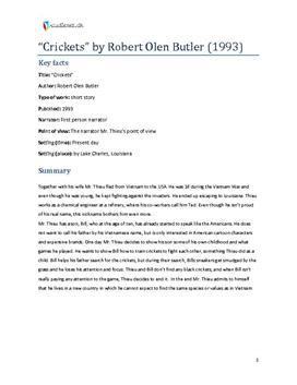 Crickets by robert olen butler essay