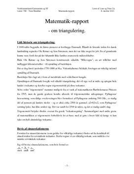 Triangulering og Landmåling - Projekt i Matematik