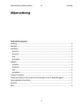 Miljøvurdering af sodavandsemballage (glasflaske og plastflaske)