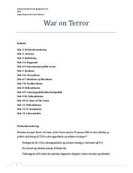 SRO om krigen mod terror   Samfundsfag A og engelsk A