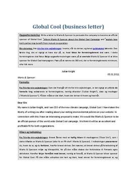Eksempel på Business Letter om Global Cool