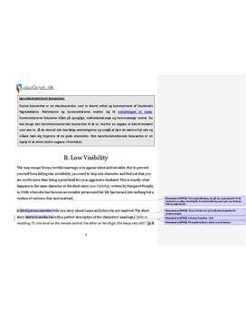 analyse af engelsk essay