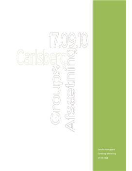 Carlsberg analyse