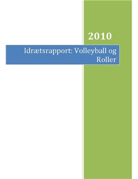 Volleyball og anaerob træning | Rapport